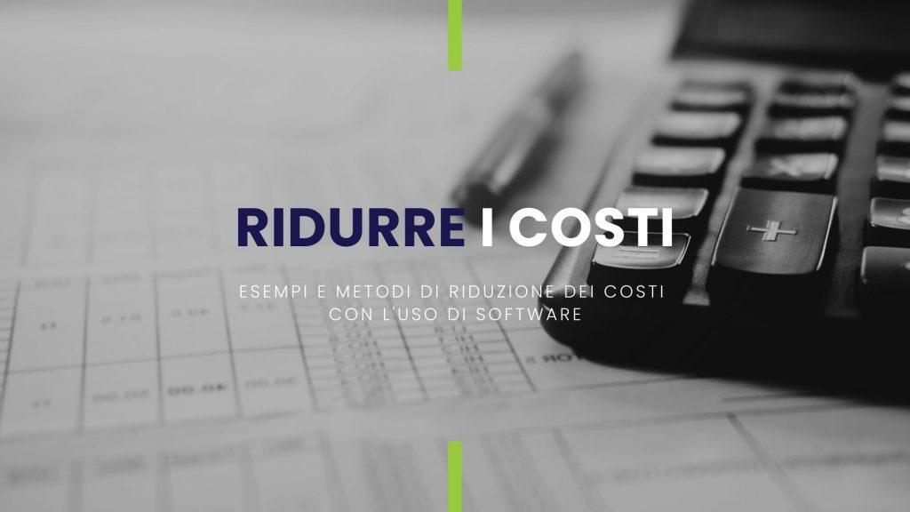 immagine con calcolatrice e foglio di calcolo per ridurre i costi